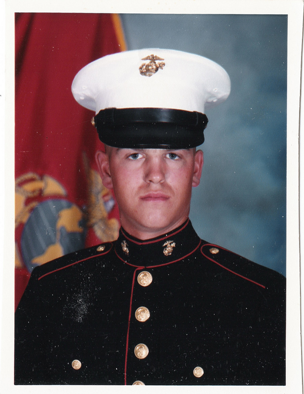 Then there's the Jenkins who served in the marines. My beloved son, David.