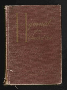 This is my copy of the hymnal I grew up with.
