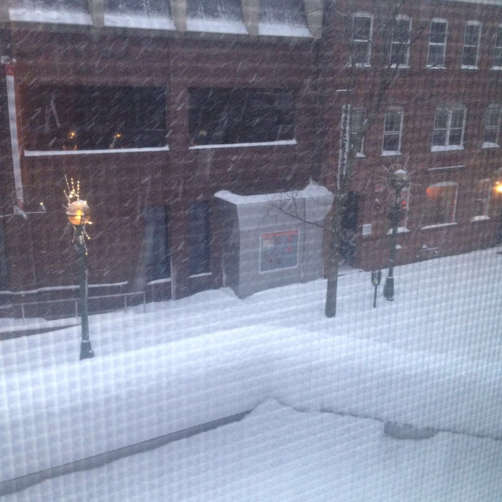 Elizabeth sent me this picture outside where they are staying in New Haven.